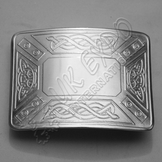 Celtic Design Plain Buckle