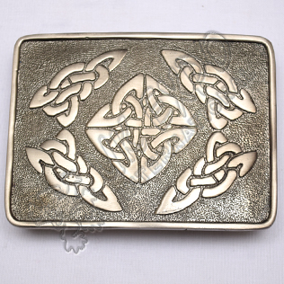 Celtic Design Shiny Antique Buckle