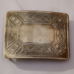 Celtic Design Shiny Antique Kilt Buckle
