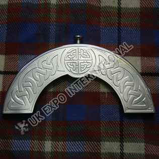Stainless Steel Celtic Embossed and Knot work cantle