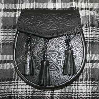 Celtic Embossed on Flap and front with hand made know tessels