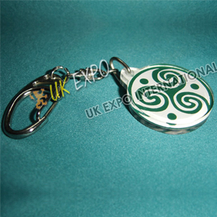 Celtic Knot Double Side Printed Key Chian