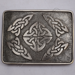 Celtic round Scotish Buckle Antique