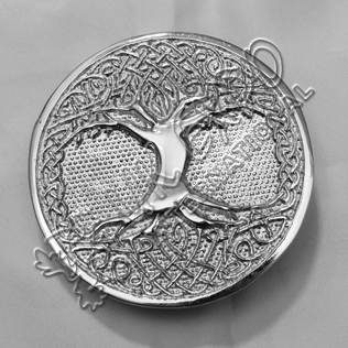 CELTIC TREE OF LIFE CIRCULAR SCOTTISH BELT BUCKLE
