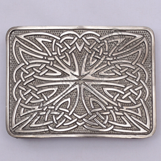 Celtic Weave Scottish Shiny Antique Kilt Belt Buckle