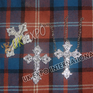 Christian cross Metal Badge