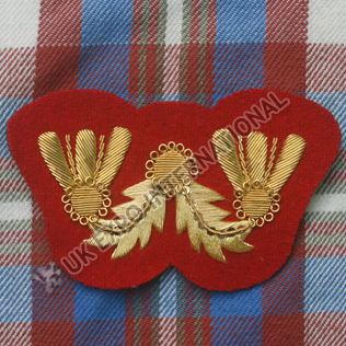 Civil War Badge Gold Bullion on Red