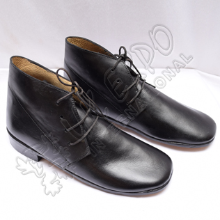 Civil War Black leather Shoes