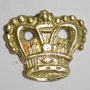 Civil war Brass hat Crown Gold Color Badge