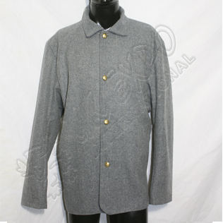 Civil war coat Light Gray With Brass Buttons
