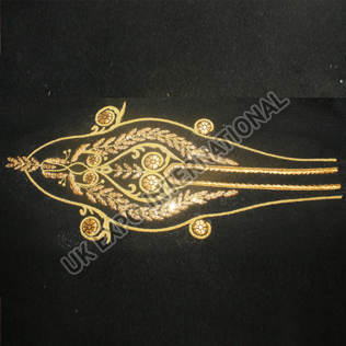 Civil war hussar Hand Embroidery Trouser Gold on Black wool