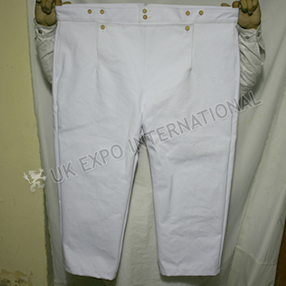 Civil War Short Trouser Heavy Cotton With Wooden Buttons