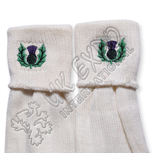 Scottish Flower Embroidery on Kilt Socks