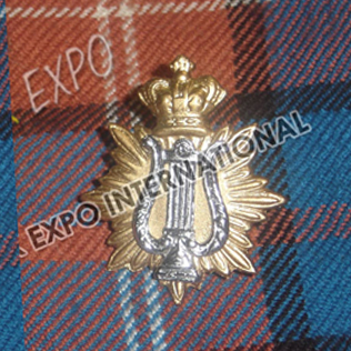 Crown Harp Metal Badge
