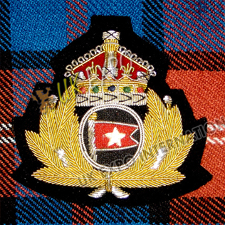 Crown With Flag Blazer Badge