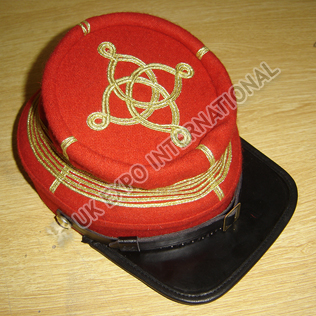 CS Captains Embroidered Kepi Red Color