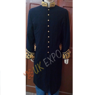 Dark blue great coat with gold bullion