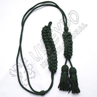Dark green color silk bugle cord