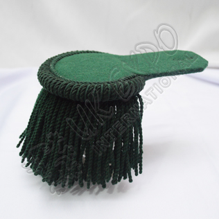 Dark Green Wool Shoulder pair