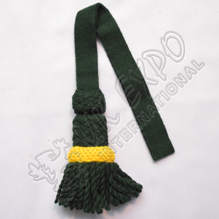 Darker Green and Yellow sword knot woolen