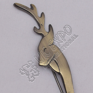 Dear Brass Antique Kilt Pin
