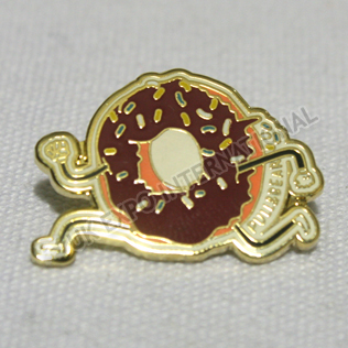 Donut Gold Colored Pin