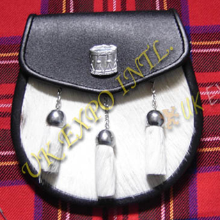 Drum Major Badge Goat Skin Leather Sporran