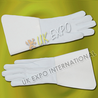 Drum Major Gloves White leather