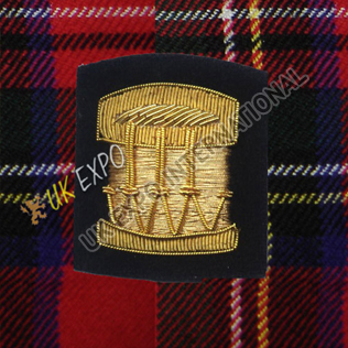 Drum Major Insignia Black & Gold