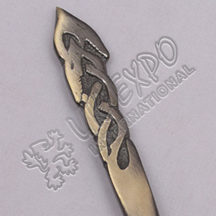 Duck Brass Antique Kilt Pin