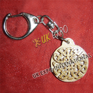 Eternity Knot wooden Key Chain