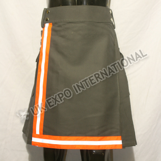 Fire Man Orange Color Tape Utility Kilts