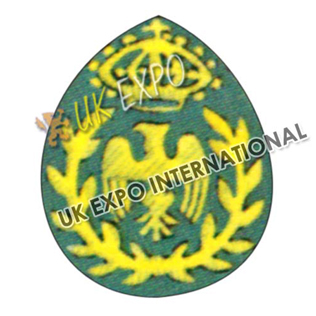 Forage Cap Badge Yellow hand  embriodered