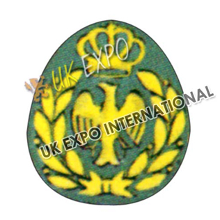 Forage Cap Badge Yellow machine embriodered