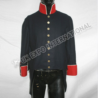 French Dark Blue coat with Red Color and Cuff