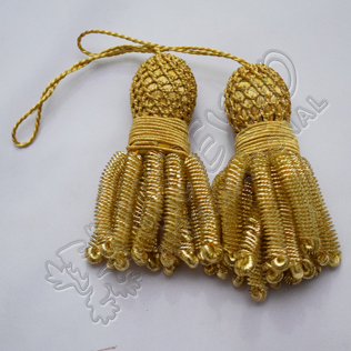 French Gold bullion tessel small fringes hand made