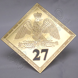 French grenadier 1804 shako plate hussars regiment 27