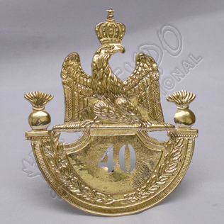 French Grenadier 1812 Shako Plate Brass 40th Regiment