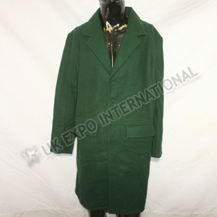 Frock Coats (1850 On) Victorian Tunic Dark green Color