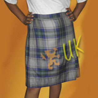 Full Pleated and Front Apron School Kilt