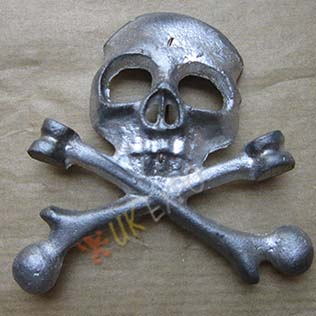 German Civial war Death Head pewter
