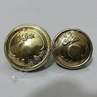 Gernade Buttons Brass 18mm and 22mm