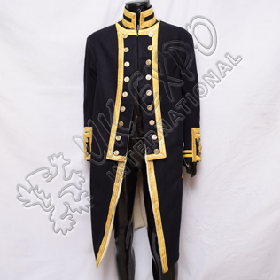 Gernal vic Admiral Nelson Dark Blue with Gold Braid coat