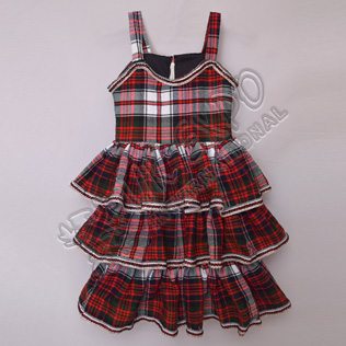 Girls MacDonald Dress Tartan Sleeveless Full Skirt For 4 Year Old