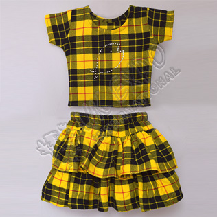 Girls Macleod Dress Tartan Shirt And Skirt For 3 Year Old