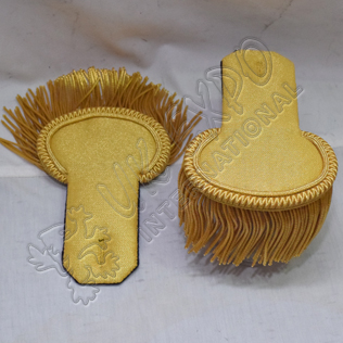 Gold Bullion Shoulders/Epaulette Pair Bullion Frings