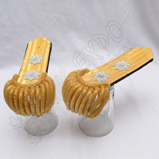 Gold wire Braid Bullion Shoulder/Epaulette