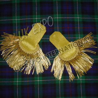 Gold Wire Hand Embroidery Epaulettes