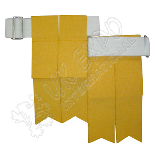 Golden Color Garter Flashes With Adjustable Buckle
