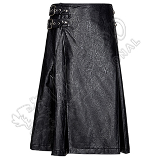 Dominated Style Grain Leather 2 Straps Utility kilts